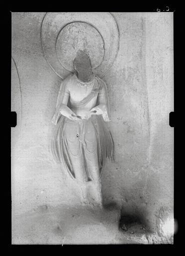 Shanxi. Tianlongshan, grotte Y, paroie droite, détail, bodhisattva debout_0