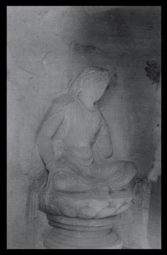 Shanxi. Tianlongshan, grotte C, personnage assis_0