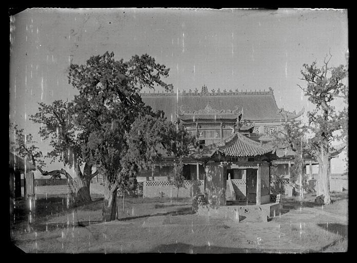 Shanxi. Pingyang, temple de l'empereur Yao, la cour
