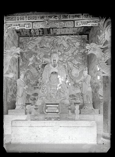 anonyme (photographe) : Shanxi. Pingyang, temple de l'empereur Yao, statue d'autel