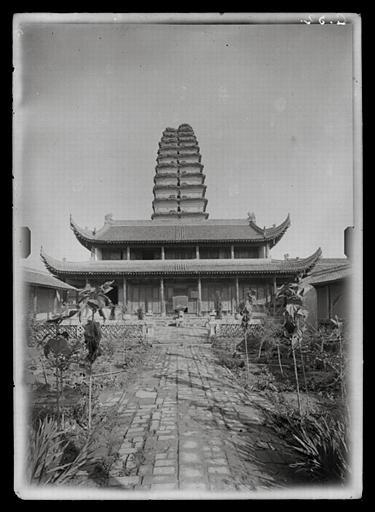 anonyme (photographe) : Shaanxi. Xi'anfu, Xiaoyantasi ('Petite pagode de l'oie sauvage'), vue du sud