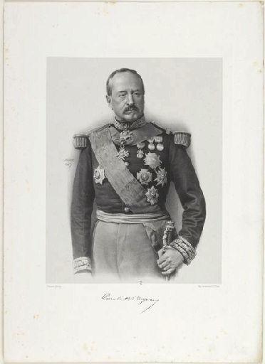 LAFOSSE Adolphe (lithographe), PIERSON Pierre Louis (photographe), LEMERCIER & Cie (imprimeur) : Le Général de Martimprey