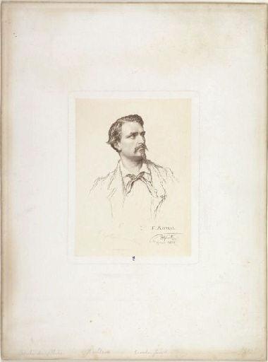 HEBERT Ernest (dessinateur, d'après), GAILLARD Ferdinand (graveur), CHARDON l'Aîné (imprimeur) : Frédéric Mistral