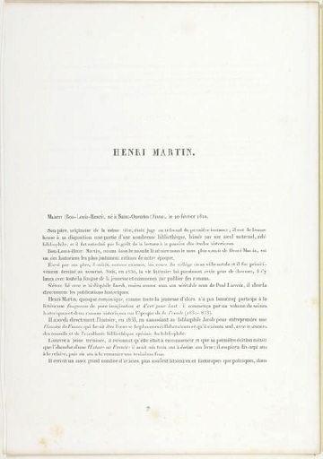 LEMOINE Auguste Charles (lithographe), MAYER ET PIERSON (photographe), LEMERCIER & Cie (imprimeur) : Henri Martin