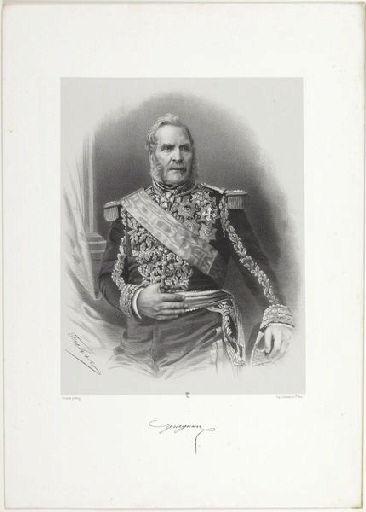FUHR Charles Jérémie (lithographe), FRANCK (photographe), LEMERCIER & Cie (imprimeur) : Maréchal Magnan