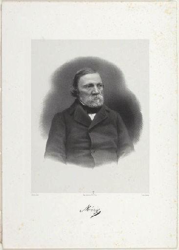SCHULTZ (lithographe), CARJAT Etienne (photographe), LEMERCIER & Cie (imprimeur) : Méry