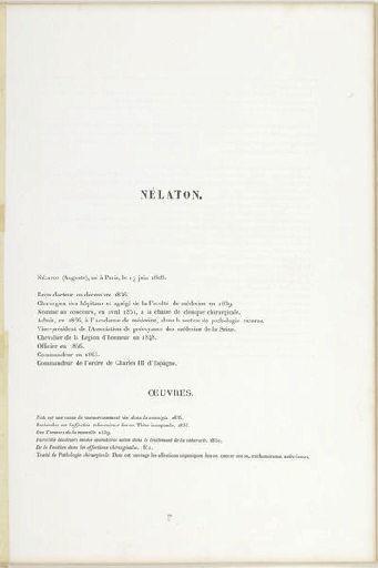 LAFOSSE Adolphe (lithographe), CARJAT Etienne (photographe), LEMERCIER & Cie (imprimeur) : Nélaton