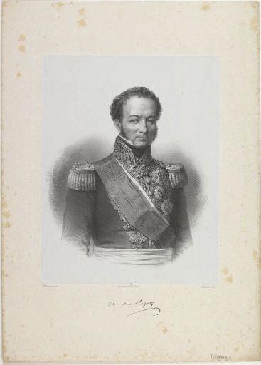 BORNEMANN (lithographe), MAURIN (peintre,d'après), LEMERCIER & Cie (imprimeur) : Comte de Rigny