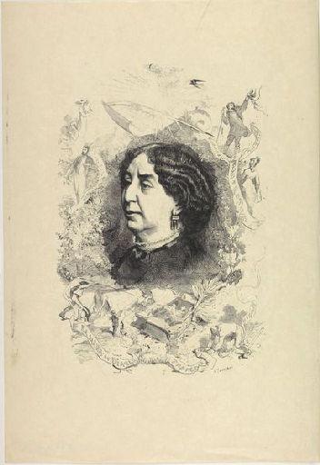 MORIN Edmond (dessinateur), TOURFAUT Léon Alexandre (graveur), BOCOURT Etienne, LEMERCIER & Cie (imprimeur) : George Sand