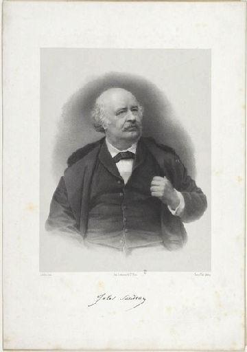 SCHULTZ (lithographe), PETIT Pierre (photographe), LEMERCIER & Cie (imprimeur) : Jules Sandeau