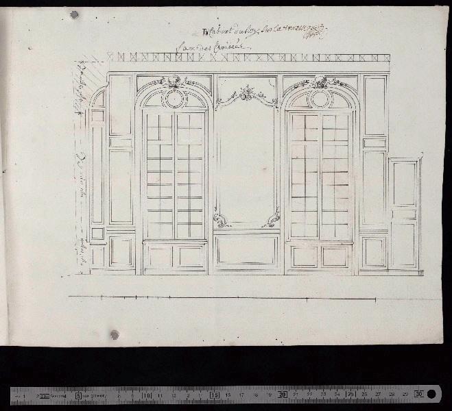 Cabinet du roi sur la terrasse, face des croisées_0