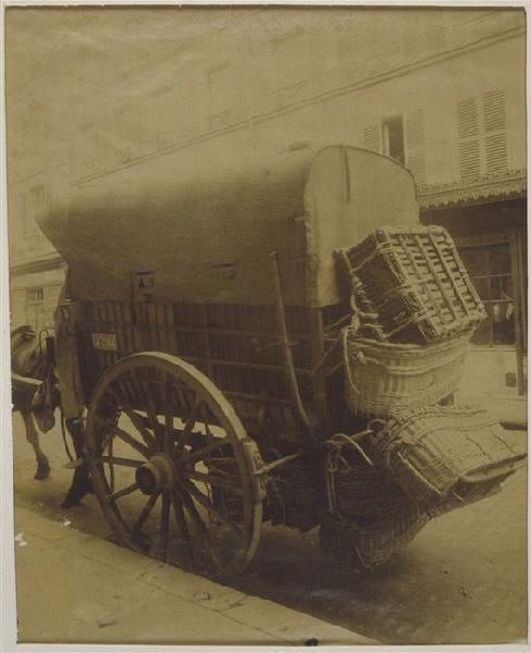 ATGET Eugène (dit), ATGET Jean Eugène Auguste (photographe) : Voiture de maraîcher