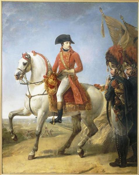 Portrait équestre de Bonaparte, 1er Consul à Marengo : Bonaparte distribuant des sabres d'honneur aux grenadiers de la garde consulaire après la bataille de Marengo_0