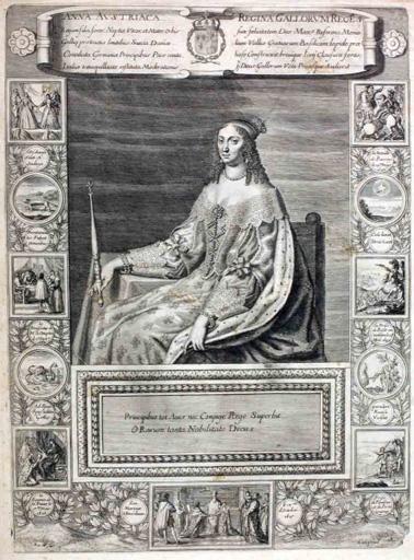 Portrait d'Anne d'Autriche (titre factice) ; Anna Austriaca Regina Gallorum Reges (titre d'origine)_0