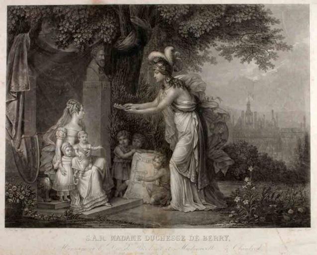 SAR Madame duchesse de Berry, M.le duc de Bordeaux (et Mademoiselle à Chambord)_0