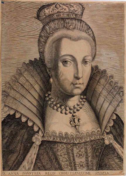 """Portrait d'Anne d'Autriche (titre traduit) ; D.Anna D'Austria Regis Christianissimi Sponsa"""" (titre d'origine)_0"""