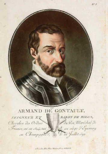 Armand de Gontaut, seigneur et baron de Biron (titre inscrit)