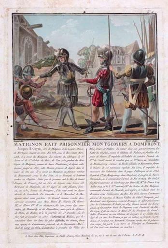 Matignon fait prisonnier Montgomery à Domfront_0