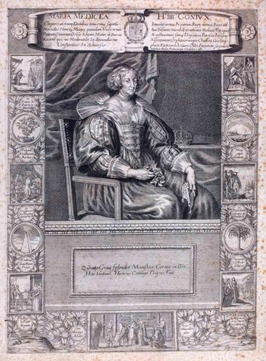 Marie de Medicis à mi-corps (titre factice) ; Maria Medicea. H IIII Coniux (titre d'origine)_0