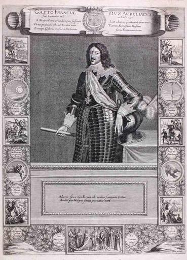 Portrait de Gaston d'Orléans (titre factice) ; Gasto Franciae Dux Aurelacius (titre d'origine)_0