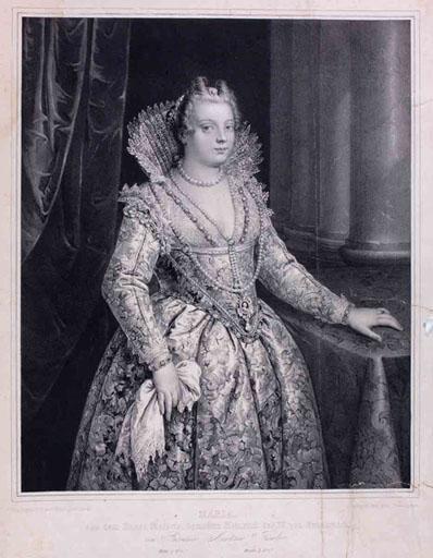 Marie de Medicis à mi-corps