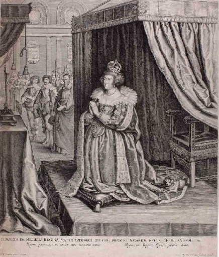 Marie de Médicis à genoux devant un crucifix (titre factice)