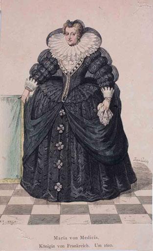 Portrait de Marie de Medicis en pied ; _0
