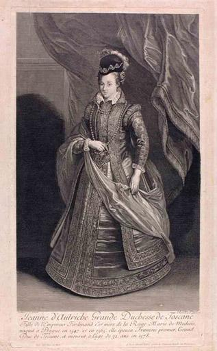 Jeanne d 'Autriche grande duchesse de Toscane (titre inscrit)