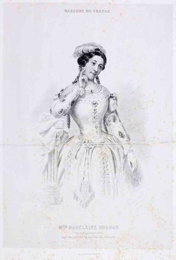 Melle Madeleine Brohan (titre inscrit)