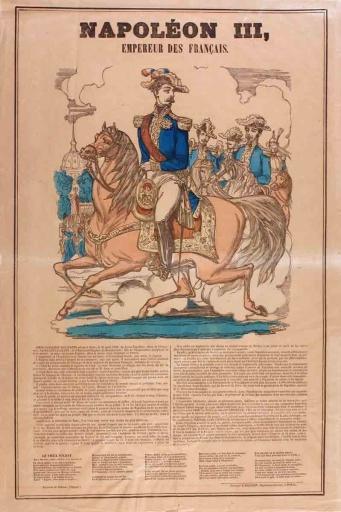 Napoléon III empereur des français (titre inscrit)