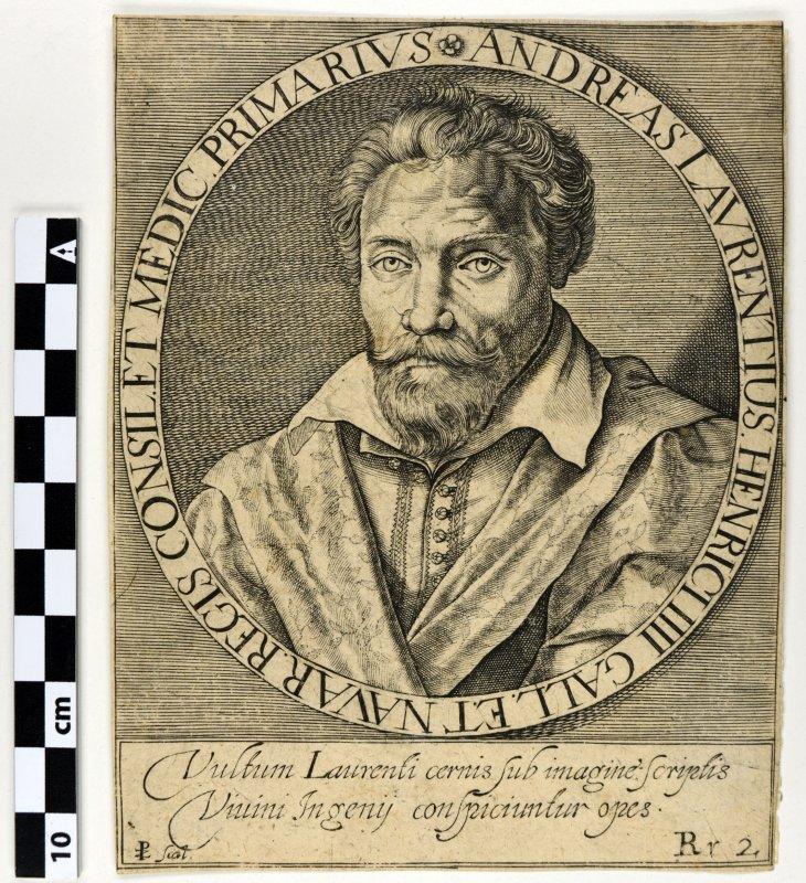 ZETTER Paul de (graveur) : André du Laurens en buste