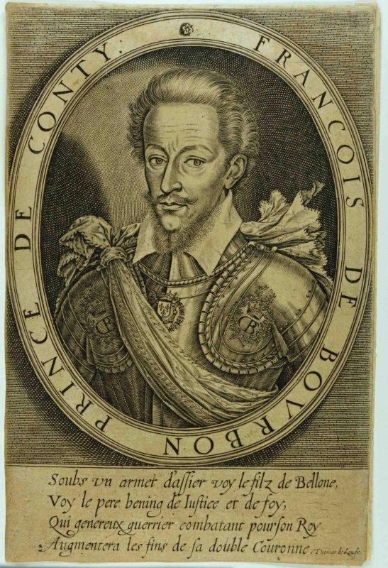 LEU Thomas de (graveur) : François de Bourbon, prince de Conti