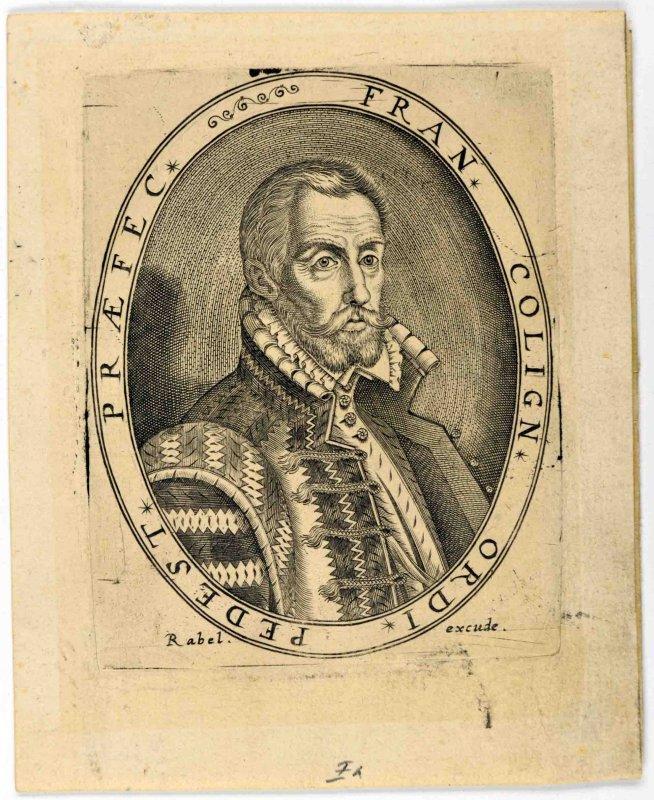 anonyme (graveur), RABEL Jean (éditeur) : Gaspard de Coligny et Michel de l'Hôpital