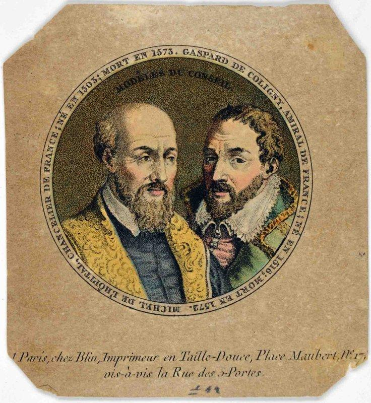 Gaspard de Coligny et Michel de l'Hôpital_0