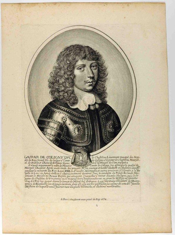 anonyme (graveur), DARET Pierre (éditeur) : Gaspard IV de Coligny, second fils de Gaspard III