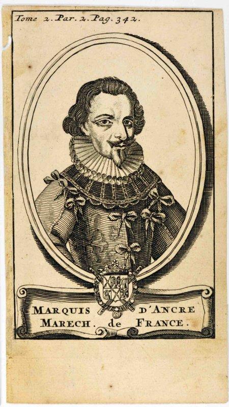 anonyme (graveur) : Concino Concini, maréchal d'Ancre