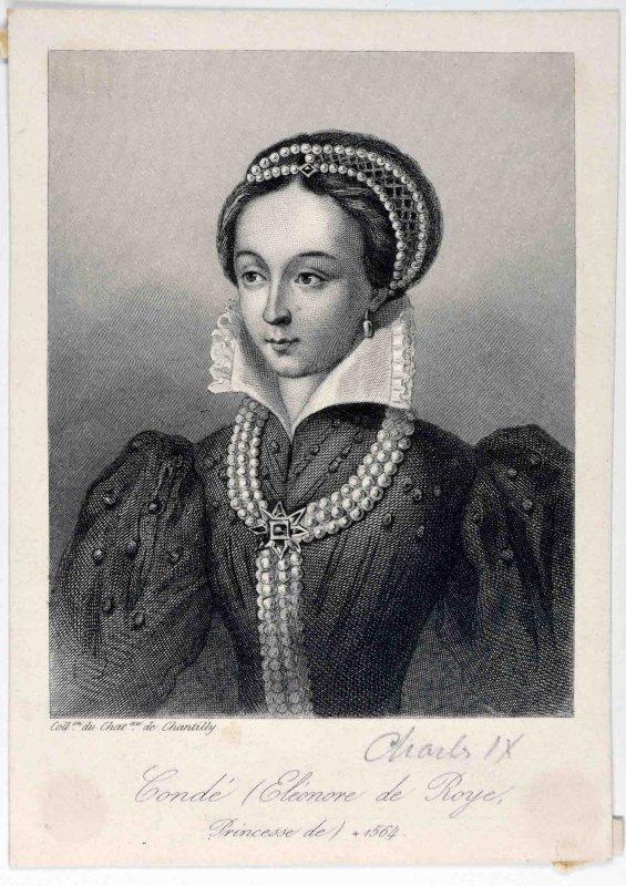 anonyme (graveur) : Eléonore de Roye, princesse de Condé
