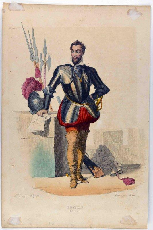 ALLAIS Louis Jean (graveur), DUPRE François Xavier (d'après, dessinateur) : Louis Ier de Bourbon, prince de Condé