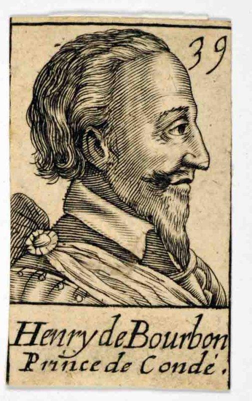 GAULTIER Léonard (graveur), LE CLERC Jean (éditeur) : Henry II de Bourbon, prince de Condé