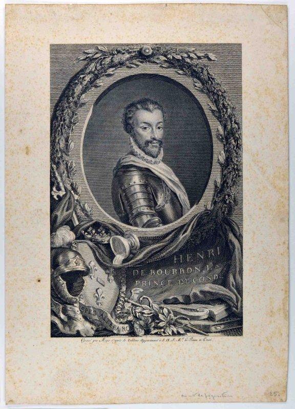 MIGER Simon Charles (graveur) : Henry I de Bourbon, prince de Condé