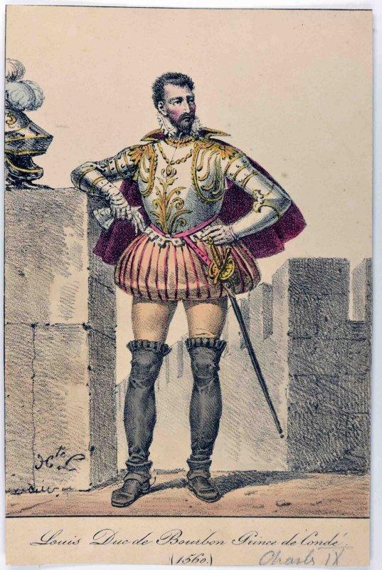 LECOMTE Hippolyte (dessinateur), DELPECH François Séraphin (lithographe) : Louis de Bourbon, prince de Condé