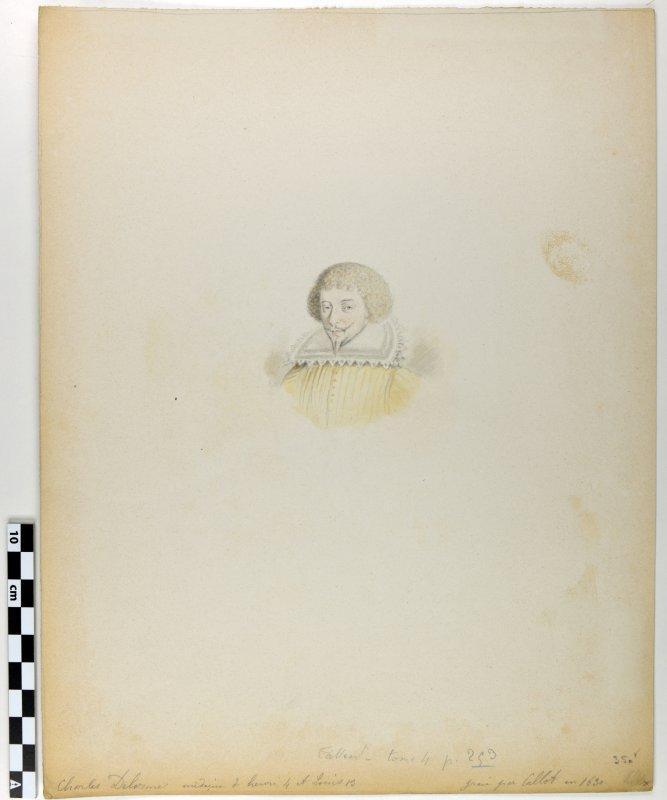 anonyme (graveur) : Charles Delorme, médecin d 'Henri IV