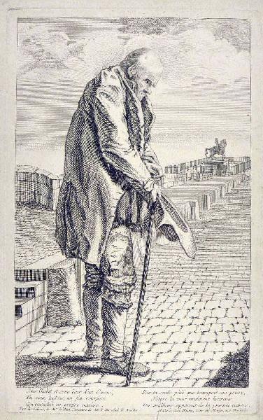 THEVENARD Fils (graveur), BLIGNY (éditeur) : Mendiant sur le Pont Neuf