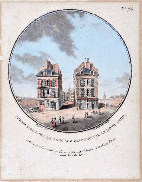 Vues pittoresques des principaux édifices de Paris : Vue de l'entrée de la Place Dauphine