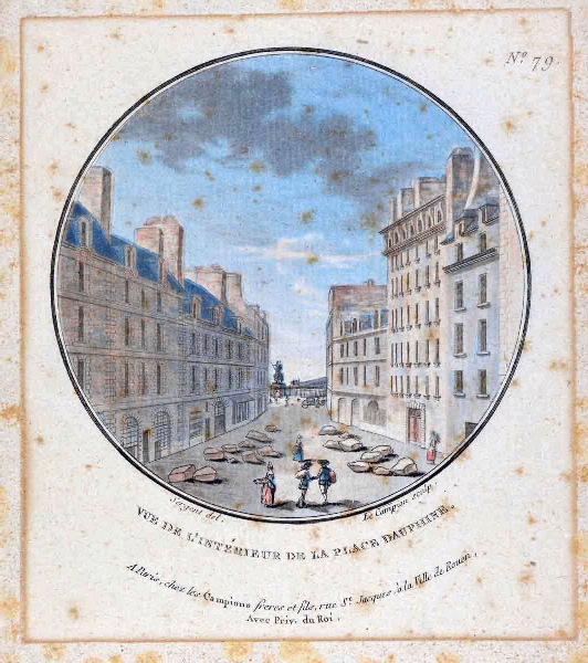 Vues pittoresques des principaux édifices de Paris : Vue de l'intérieur de la place Dauphine