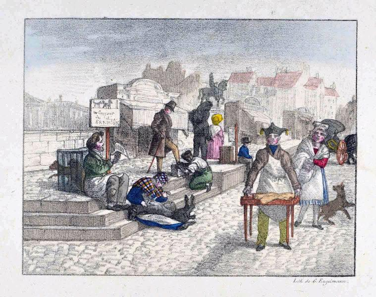 ENGELMANN Godefroy I (graveur) : Le Pont-Neuf et la pointe de l'île de la Cité