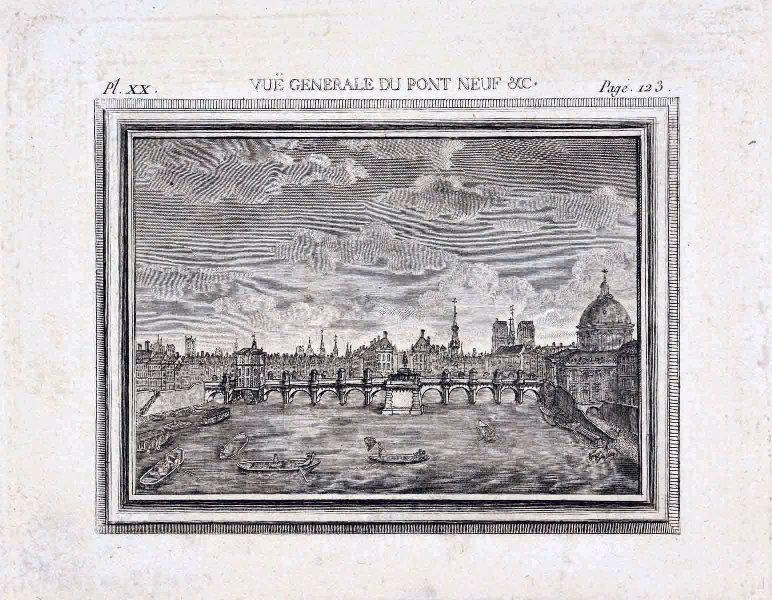 MARTINET François Nicolas (graveur, dessinateur) : Le Pont-Neuf et la pointe de l'île de la Cité