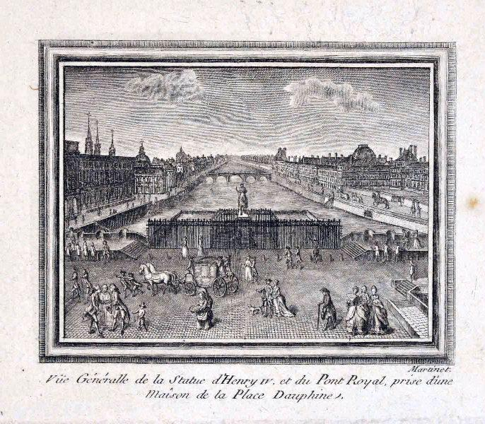 La statue équestre d'Henri IV et le Pont Royal
