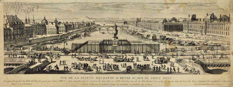 La statue équestre d'Henri IV sur le Pont Neuf_0