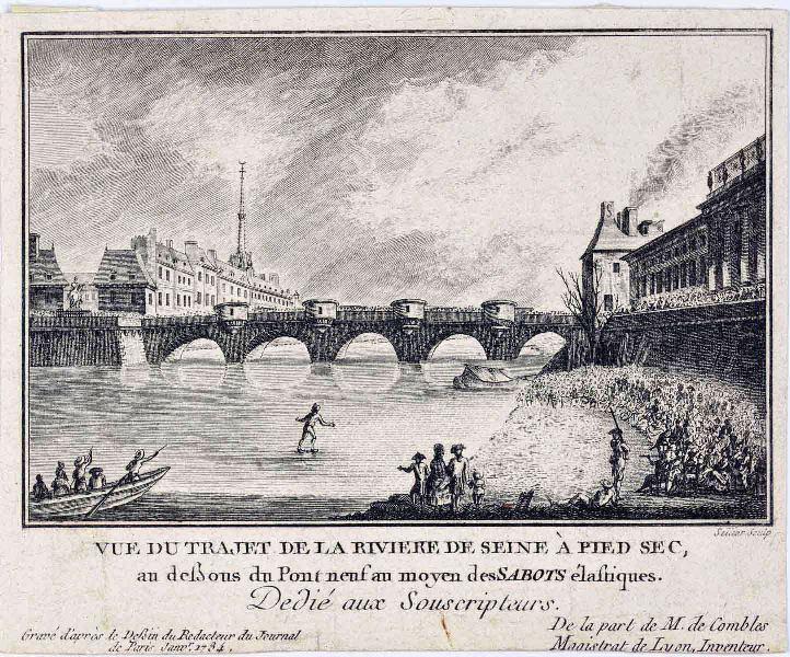 Vue du trajet de la rivière de Seine à pied sec ; Vignette d'illustration (Le Journal de Paris)
